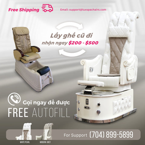 lux spa trade in pedicure spa chair