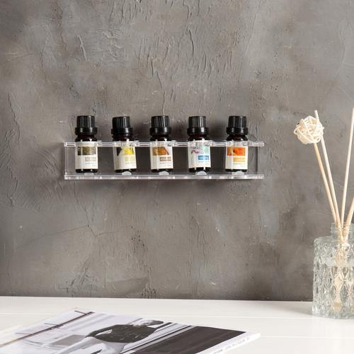 LUX Too-Free Modern Acrylic Essential Oil Floating Shelf Rack