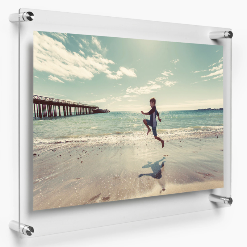 "LUX 16X20"" DOUBLE PANEL PHOTO FLOATING ACRYLIC CLEAR PICTURE FRAME (FRAME SIZE 19X23"")"