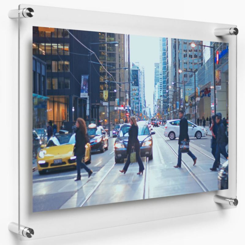 "LUX 18X24"" DOUBLE PANEL PHOTO FLOATING ACRYLIC CLEAR PICTURE FRAME (FRAME SIZE 21X27"")"