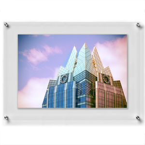 "LUX 20X24"" DOUBLE PANEL PHOTO FLOATING ACRYLIC CLEAR PICTURE FRAME (FRAME SIZE 23X27"")"