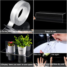 Load image into Gallery viewer, LUX 8 Pieces Acrylic Floating Shelves, 12 Inch Acrylic Wall Mounted Hanging Shelf for Home, Salon, Bedroom, Living Room, Bathroom, Office (Clear)