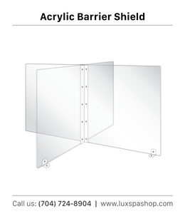 Clear 4-Way Sectional Table Divider and Barrier for Schools, Colleges, Libraries, Offices