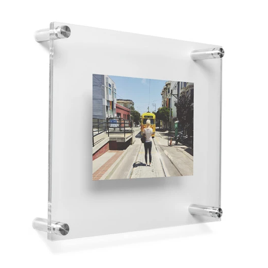 "LUX 5X7"" DOUBLE PANEL PHOTO FLOATING ACRYLIC CLEAR PICTURE FRAME (FRAME SIZE 10X12"")"
