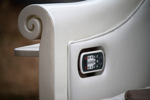 Lux Royal HB550 White Pedicure Spa Chair Wholesale - Built In Remote Control