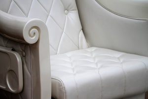 Lux Royal HB550 White Pedicure Spa Chair Wholesale - Thick comfortable cushion