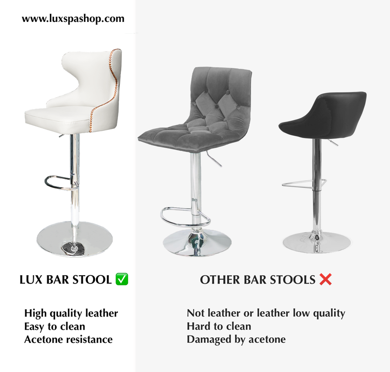 "LUX HB550 Customer Bar Chair - Height Adjustable 24"" to 33"""