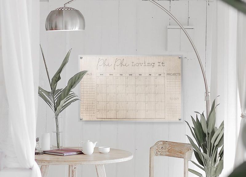 personalize-able modern acrylic calendar