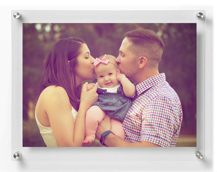 LUX Standoff Floating Acrylic Photo Art Frame (Photo size 12x16''/ Frame size 15x19'')