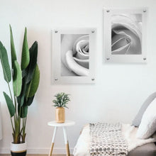 Load image into Gallery viewer, LUX Standoff Floating Acrylic Photo Art Frame (Photo size 12x12''/ Frame size 15x15'')