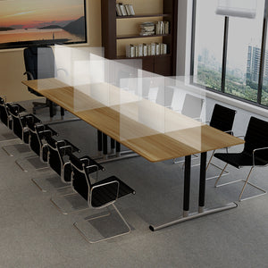 Multi-Sectional Clear Table Divider and Barrier For Classrooms, Schools, Libraries, Churches, and Offices