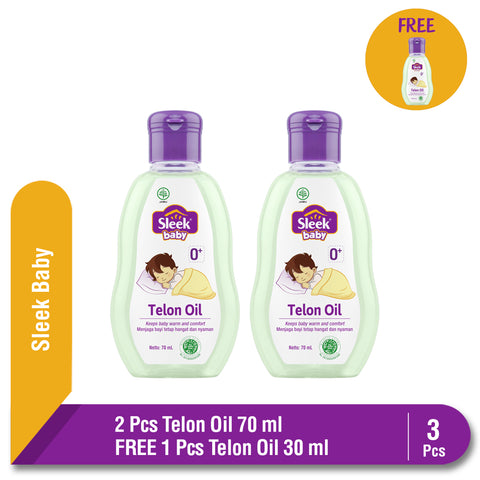 Sleek Baby Telon Oil 2 x 70 ml FREE Sleek Baby Telon Oil 30 ml