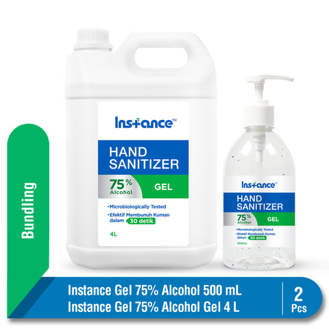 Bundling Instance Hand Sanitizer Alcohol 75% 500 ml & Gel 4 L