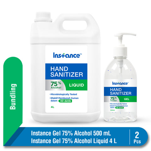 Bundling Instance Hand Sanitizer Alcohol 75% 500 ml & Liquid 4 L