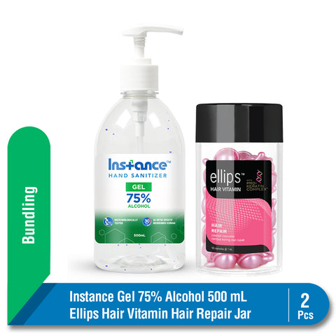 Bundling Instance Hand Sanitizer 500 ml + Ellips Hair Repair Jar