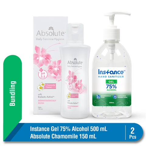 Bundling Instance Hand Sanitizer 500 ml + Absolute Camomile Classic 150 ml