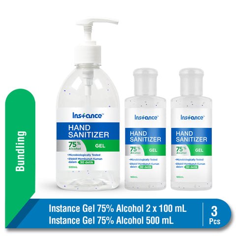Bundling Instance Hand Sanitizer Alcohol 75% 2 x 100 & 500 ml