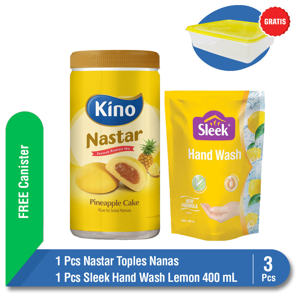 Bundling Nastar Toples Nanas + Sleek Hand Wash Lemon Pouch 400 ml FREE Canister