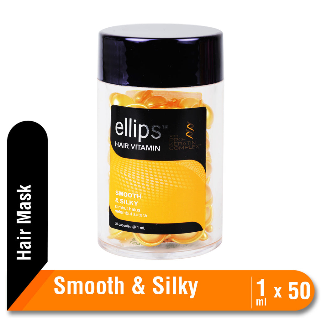 Ellips Vitamin Rambut Keratin Smooth & Silky Jar