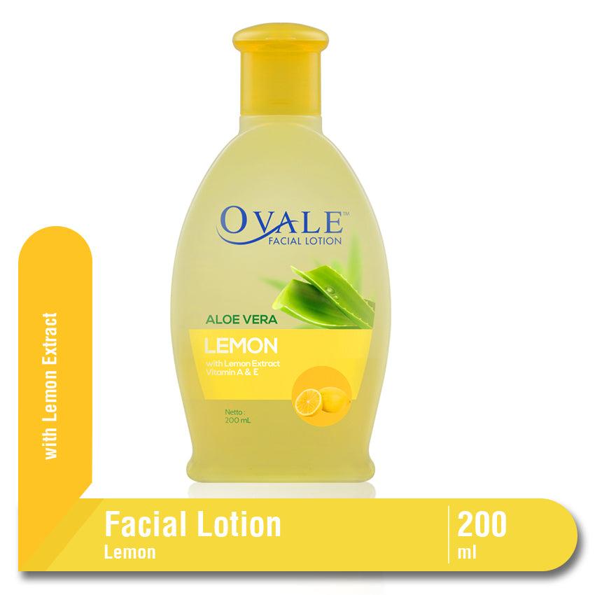 Ovale Facial Lotion Lemon Botol 200ml