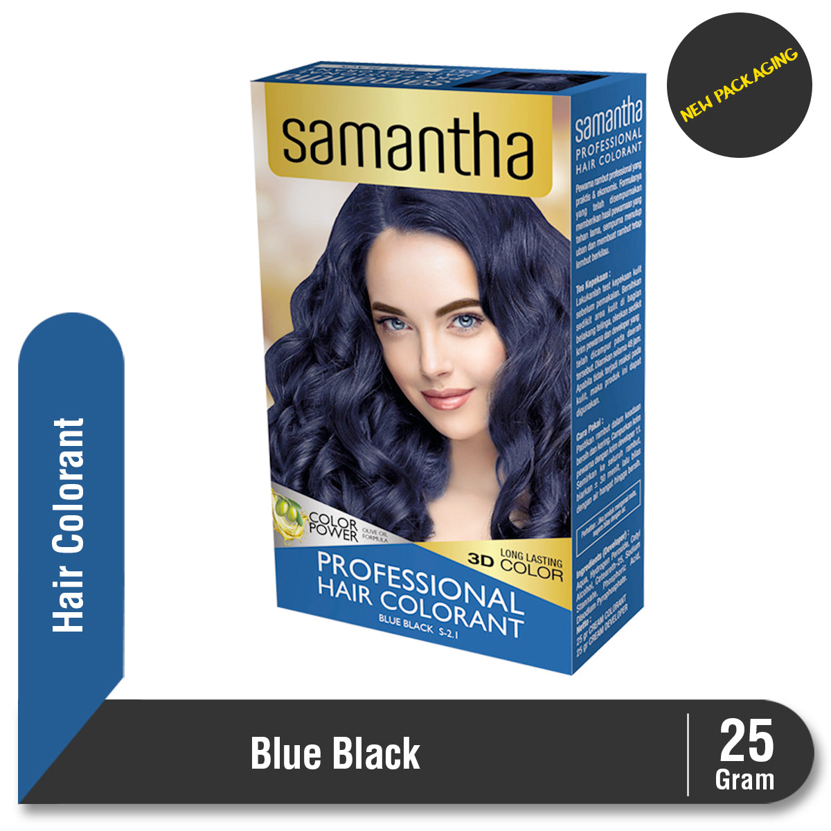 Samantha Professional Hair Colorant Blue Black 25gr