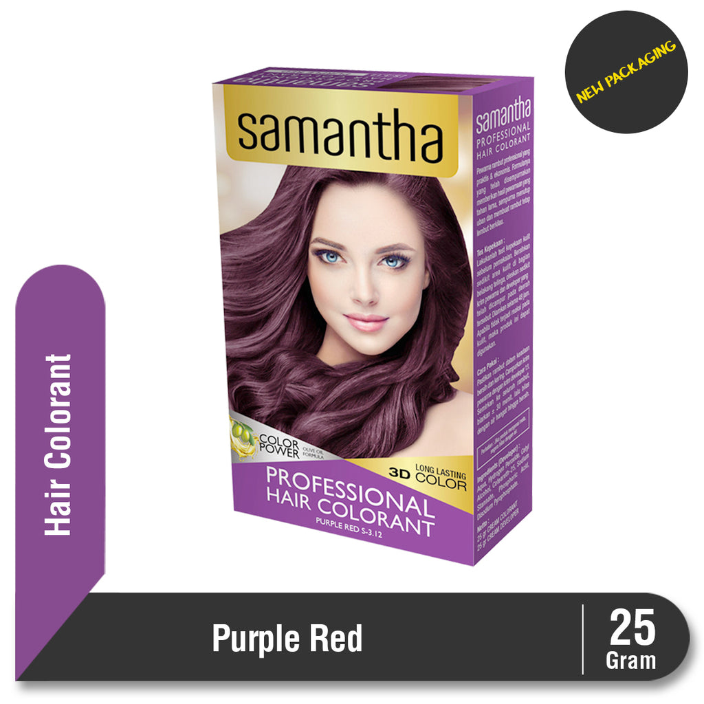Samantha Professional Hair Colorant Purple Red 25gr