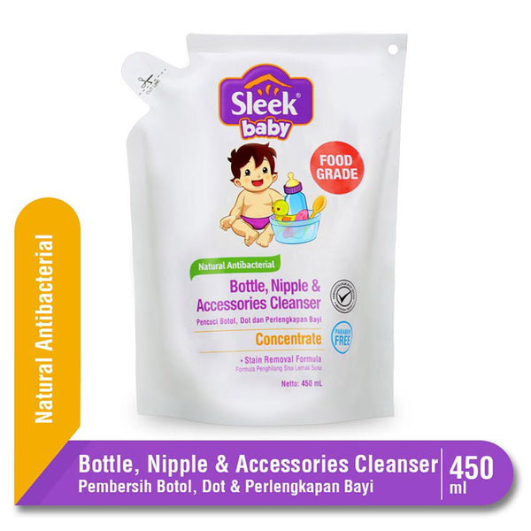 Sleek Baby Bottle & Nipple Cleanser Pouch 450ml (Extra 20%)