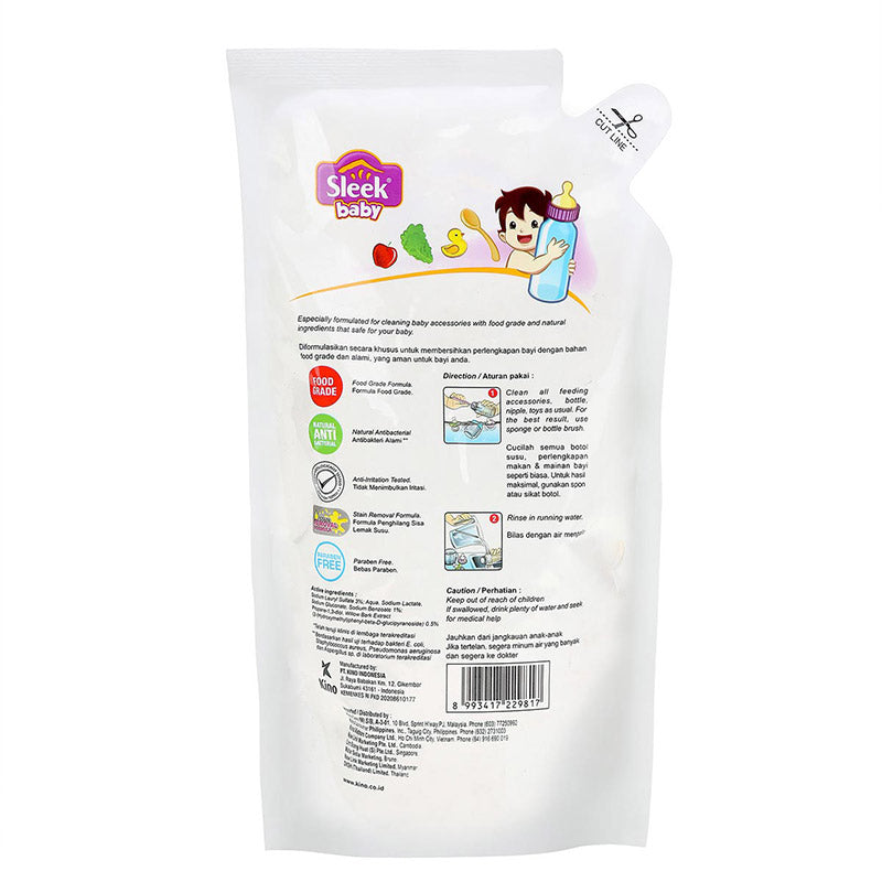 Sleek Baby Bottle &  Nipple Accessories Cleanser Pouch 900 ml