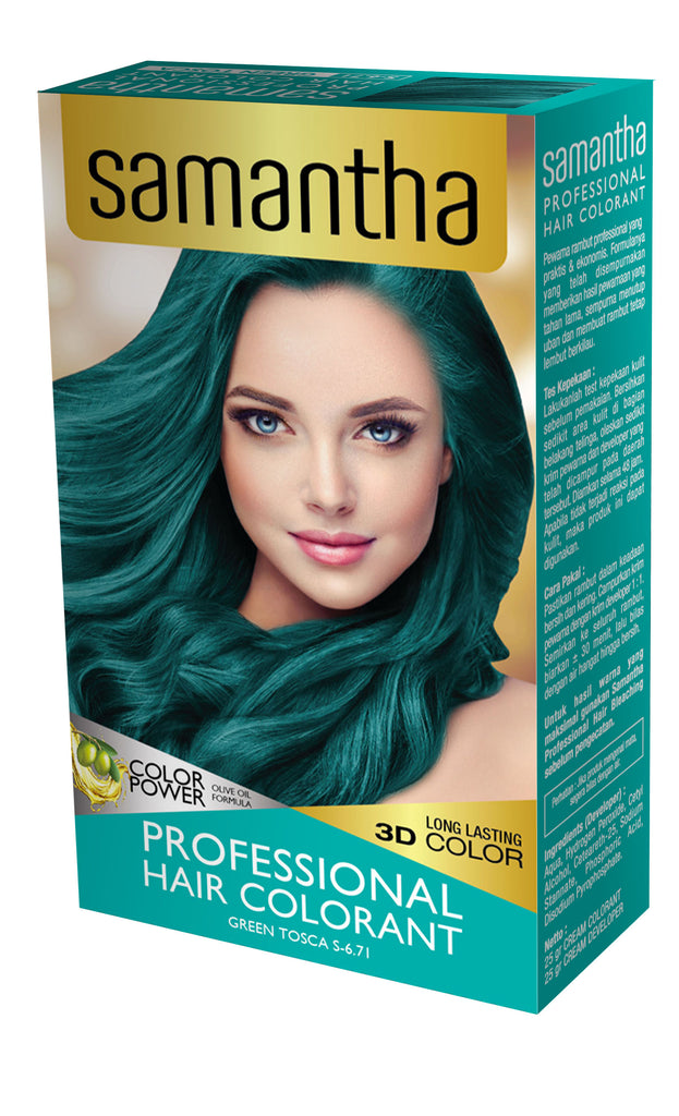 Samantha Professional Hair Colorant Green Tosca 25gr Box