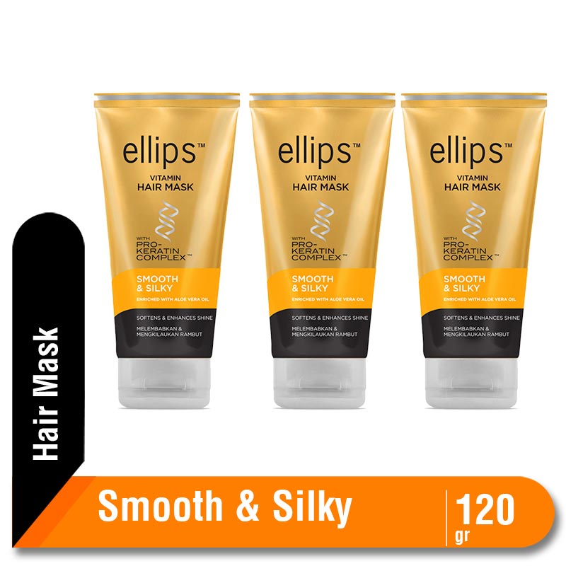 Ellips Hair Mask Pro Keratin Smooth & Silky 120g Multipack 3 Pcs