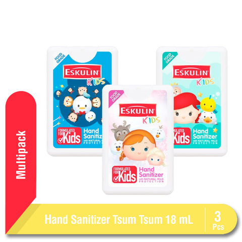 Eskulin Kids Hand Sanitizer Tsum Tsum 18ml Multipack 3 Pcs