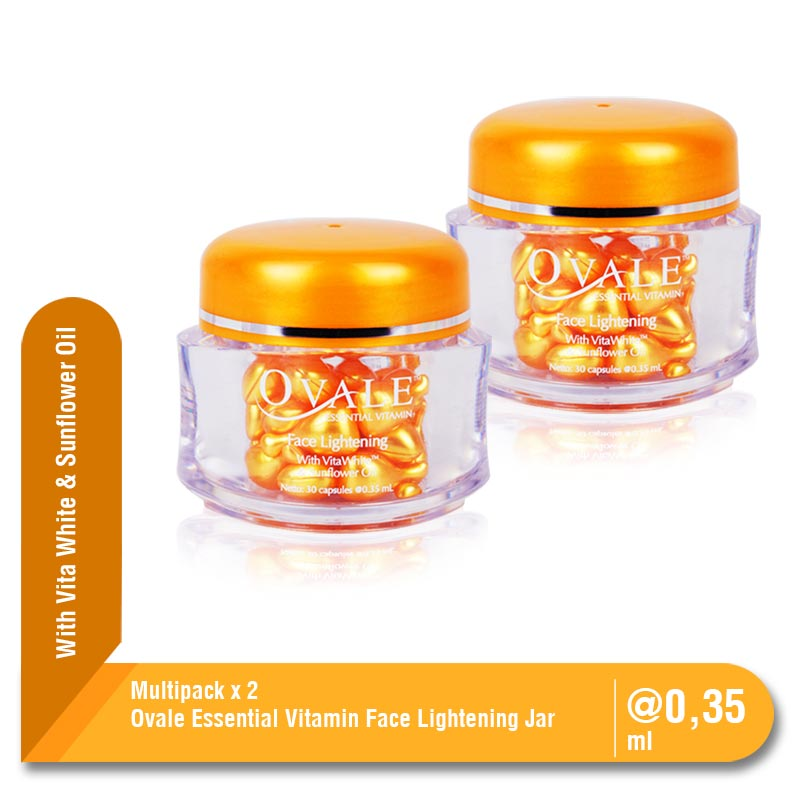 Ovale Essential Vitamin Lightening Jar 30 capsules Twinpack 2 Pcs