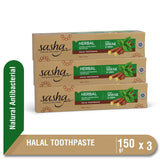 Sasha Tooth Paste Antibacterial 150 gr Multipack 3 Pcs