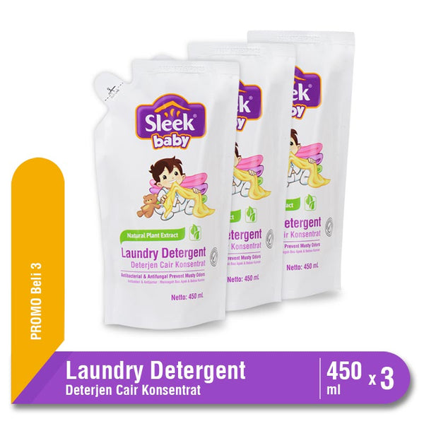 Sleek Baby Laundry Detergent Pouch 450 ml Multipack 3 Pcs