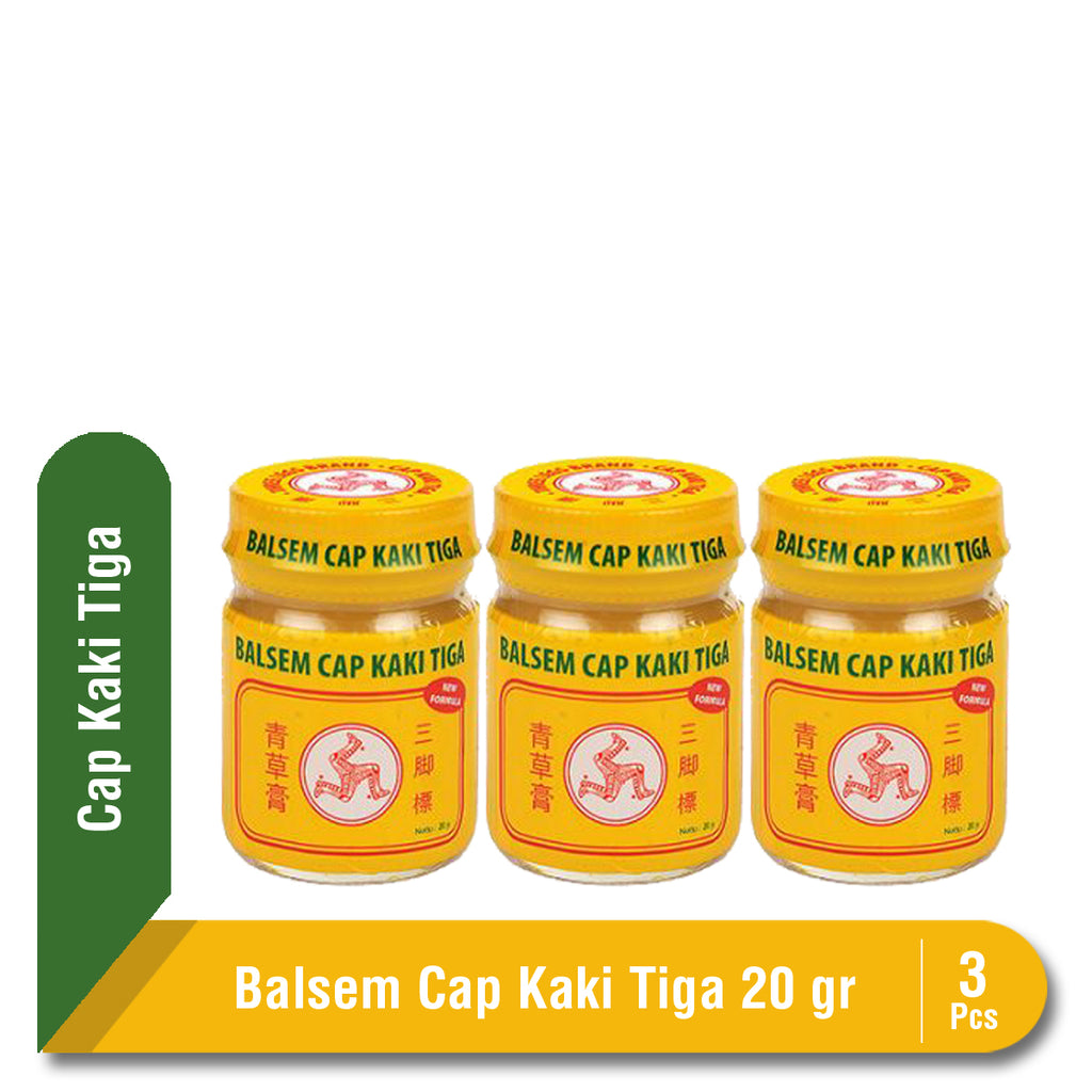 Multipack Balsem Cap Kaki Tiga Yellow 20 gr jar 3 Pcs