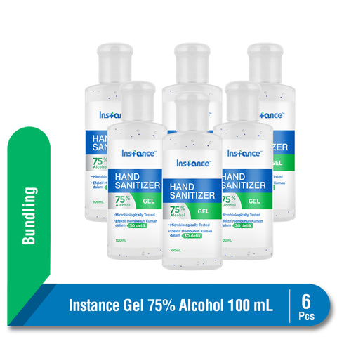 Multipack Instance Hand Sanitizer Alcohol 75% 6 x 100 ml