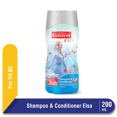 Eskulin Kids Shampoo & Conditioner Elsa Botol 200ml