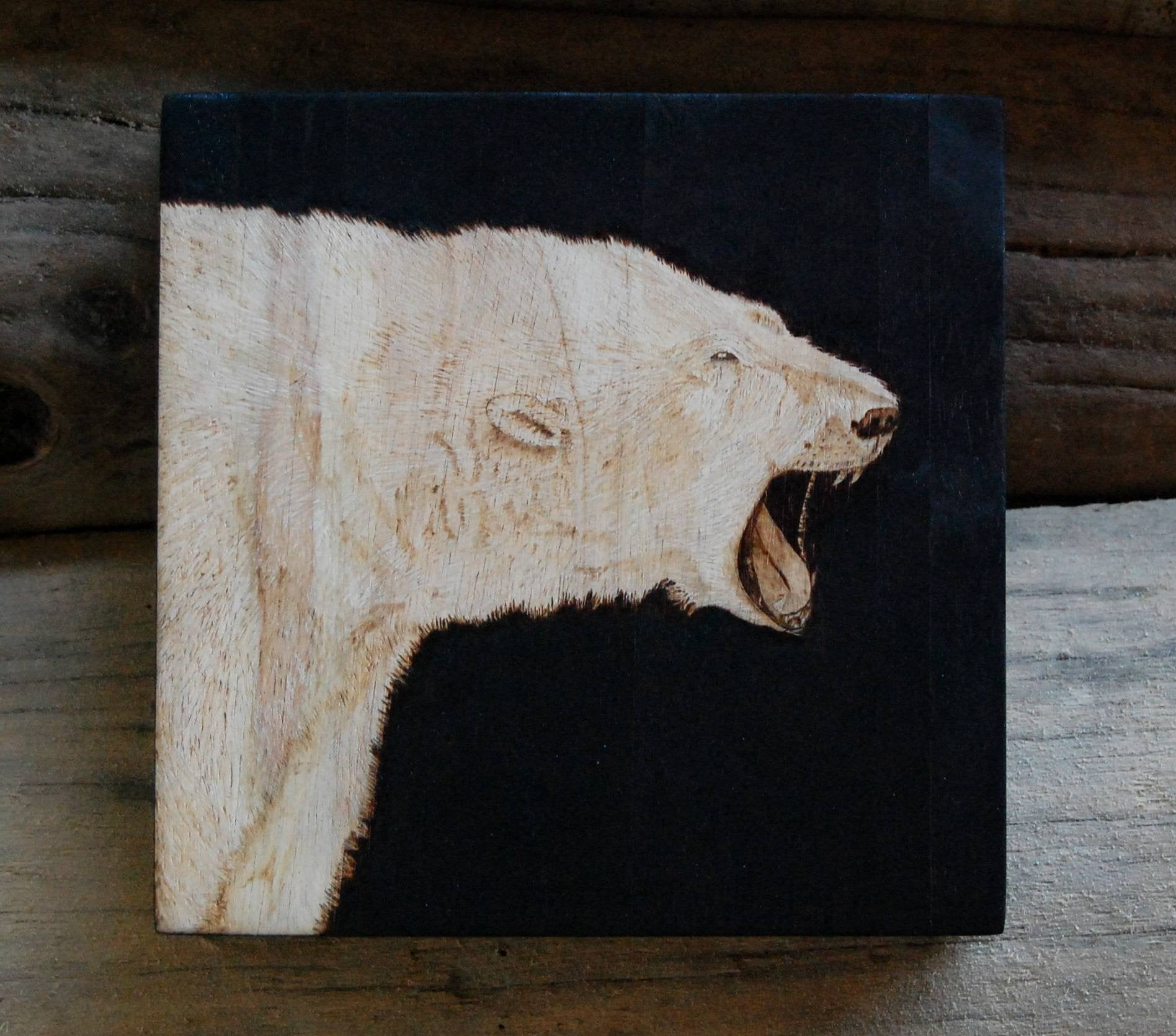 """Defiance"" - Polar Bear Woodburning"