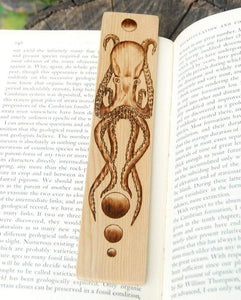 Octopus Bookmark made from Recycled Wood