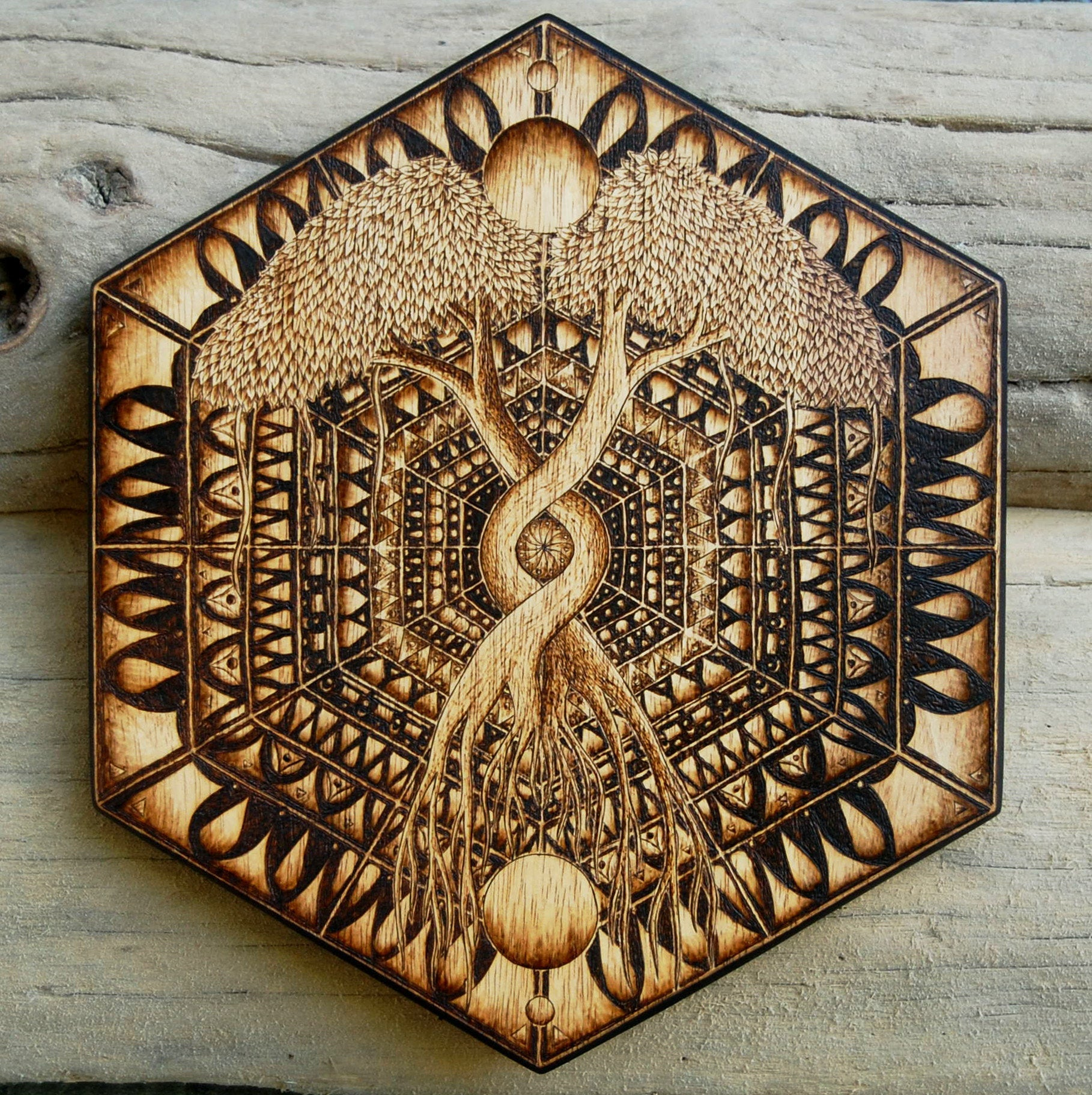 Duality Tree of Life Mandala