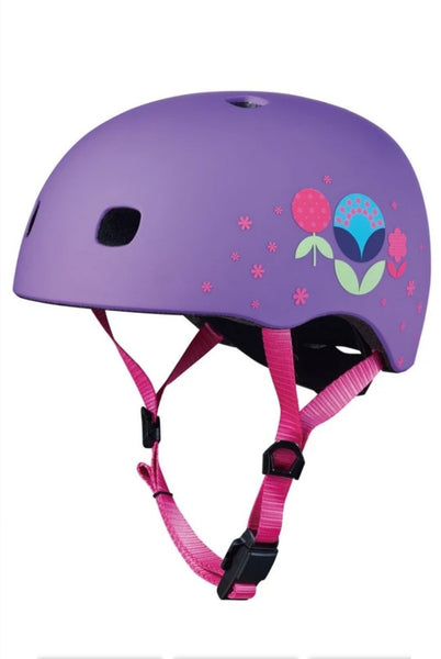 Casco Floral Purple S