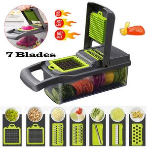 NEW 7 in 1  Multifunction Vegetable Cutter Food Slicer Dicer Peeler Chopper Cutter Cheese Grater