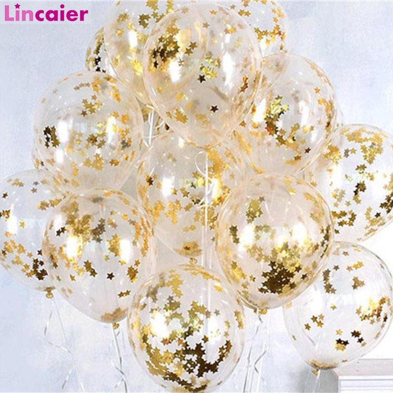 10pcs Star Confetti Balloons Graduation Party Decoration Just Married Babyshower Boy Girl 30th 40th 50th 60th Birthday PICK YOUR COLOR