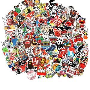 100 pcs/pack stickers- great for laptops, snowboards, home