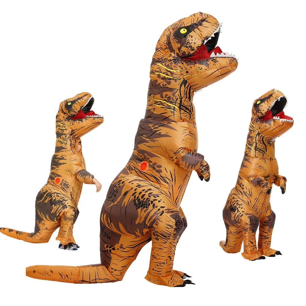 Adult Kids Inflatable Dinosaur Costume T REX