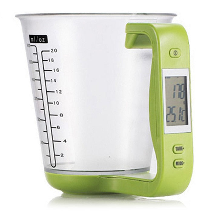 Detachable Measuring Cup/ Kitchen Scales /Digital Beaker /LCD Display Temperature