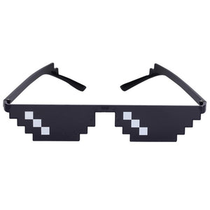Funny Tricks Glasses 8 Bit Pixel Deal With IT Sunglasses Unisex Funny Sunglasses Toy For Children & Adults Funny Toys
