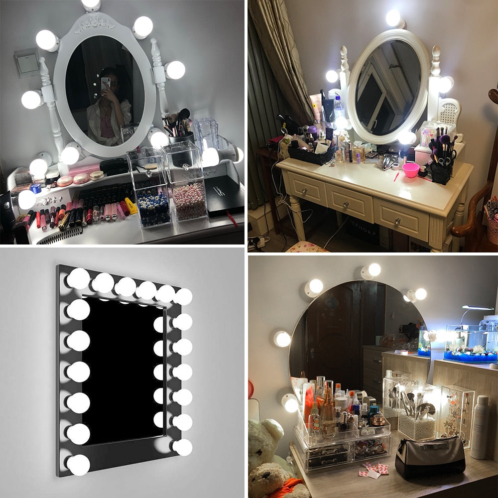 LED 12V Makeup Mirror Light Bulb Hollywood Vanity Lights- Dimmable