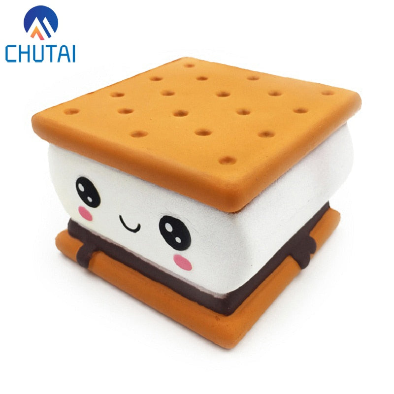 2019 New Fashion Cartoon Chocolate Biscuit Squishies Cream Scented Original Package Kids Toy Xmas Gift