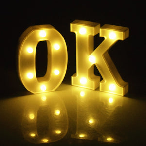 26 English Alphabet Led Letter Light
